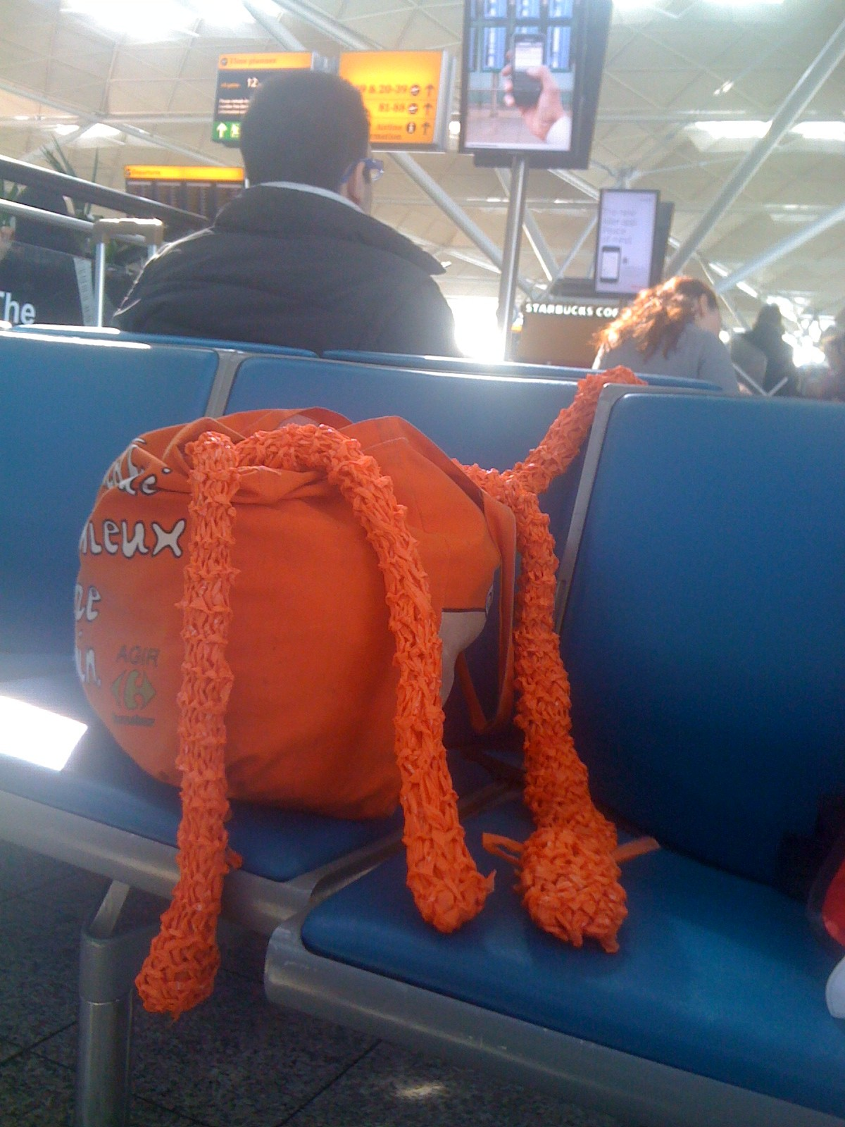 Have giant knitted squid, will travel.